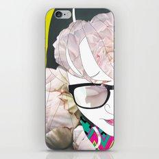 Portrait in flowers iPhone & iPod Skin