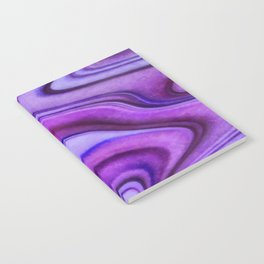 Violet wavy abstract Notebook