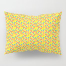 Tropical Yellow Feather Repeat Surface Pattern Design Pillow Sham