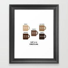 Café a la Venezolana Framed Art Print