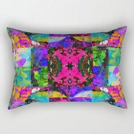 Floral Splatter Rectangular Pillow