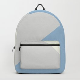 Pastel Blue Off White Pale Grey Solid Color Shapes 2021 Color of the Year Earth's Harmony & Accents Backpack