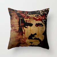 christ Throw Pillows featuring Jesus Christ by Ed Pires