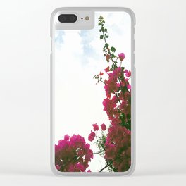 'Floral Sky #2' Clear iPhone Case