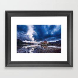 Stormy Skies over Eilean Donan Castle 2 Framed Art Print