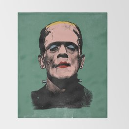 The Fabulous Frankenstein's Monster Throw Blanket
