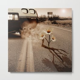 Exhausting Pipe Flowers Metal Print