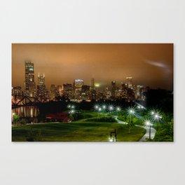 Hazy night  Canvas Print
