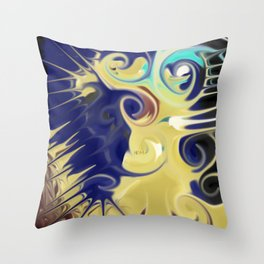 Smudged Colours 9 Throw Pillow