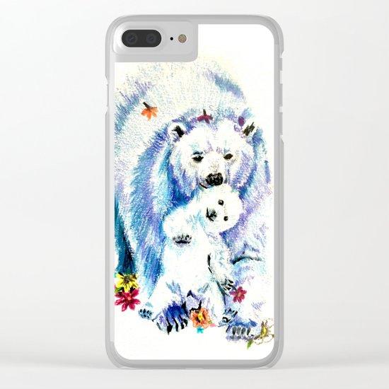 Mama Bear Lovin Clear iPhone Case