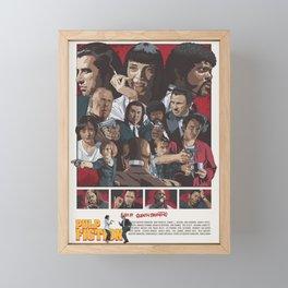 Quentin Tarantino's Pulp Fiction Fan Poster Framed Mini Art Print