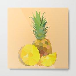 Geo Pineapple Metal Print