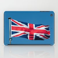british flag iPad Cases featuring Flying the British flag by PICSL8