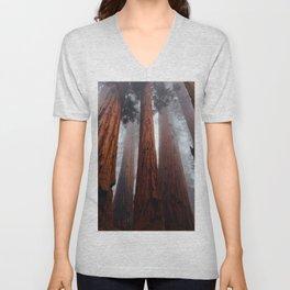 Tall Redwood Trees Unisex V-Neck