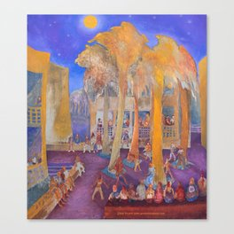 New College Palm Court Party Canvas Print