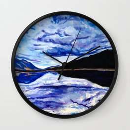 Road Trip Blues Wall Clock