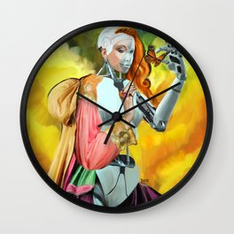 An Android in Nature Wall Clock