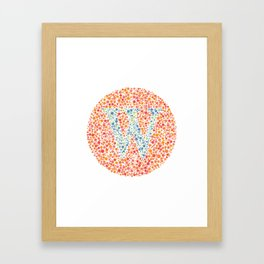 """W"" Eye Test Letter Circle Framed Art Print"
