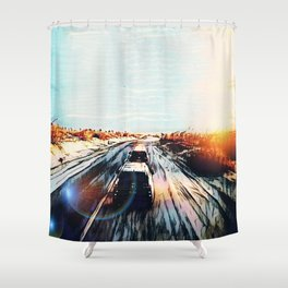 Evaporating Saguaro Sunset Shower Curtain