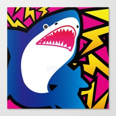 Shark!! Canvas Print