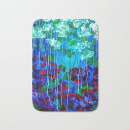 Abstract Flowers - No one knows her better Bath Mat