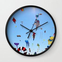 Kites over Lake Michigan Wall Clock