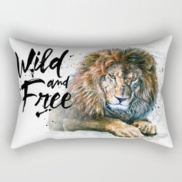 Lion Wild and Free Rectangular Pillow