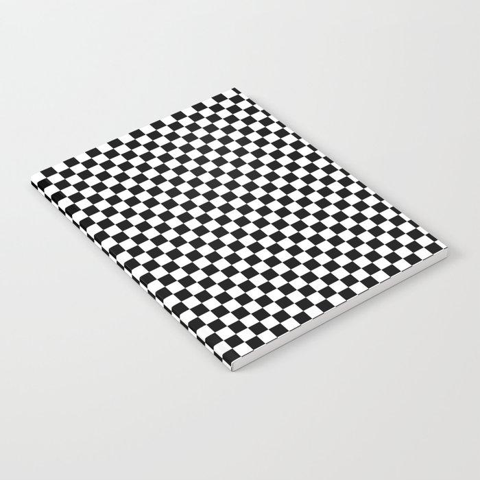 Black White Checks Notebook