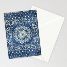 Old Bookshop Magic Mandala in Blue Stationery Cards