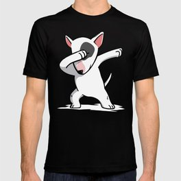 Funny Dabbing English Bull Terrier Dog Dab Dance T-shirt