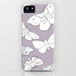 Moth Mania iPhone Case