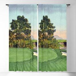 Pebble Beach Golf Course 5th Hole Blackout Curtain