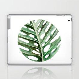 Circular Monstera Leaf Painting Laptop & iPad Skin