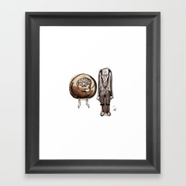 Old couple Framed Art Print