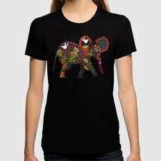 little elephant SMALL Womens Fitted Tee Black