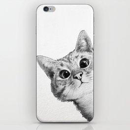 sneaky cat iPhone Skin