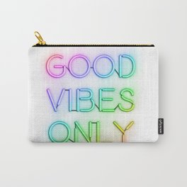 Neon Good Vibes - Rainbow Carry-All Pouch