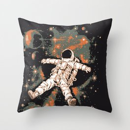 Space man Astronaut  Throw Pillow