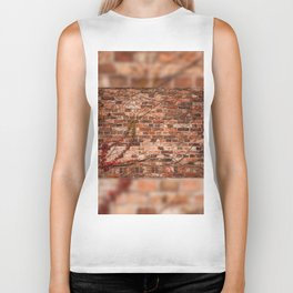 Red ivy hedge climber on wall Biker Tank