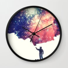 Painting the universe Wall Clock