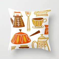Mid Century Modern Kitchen Throw Pillow