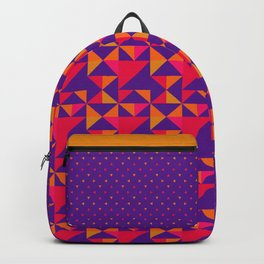 Retro Triangle Block Pattern 2 Backpack