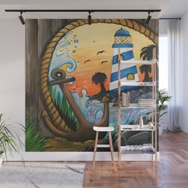 Light House View Wall Mural