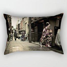 Maiko San in Gion, Kyoto Rectangular Pillow