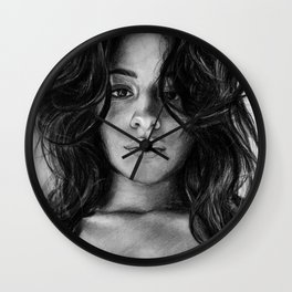 Camila Cabello Drawing Wall Clock