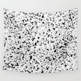 Black and white bubble sponge texture Wall Tapestry