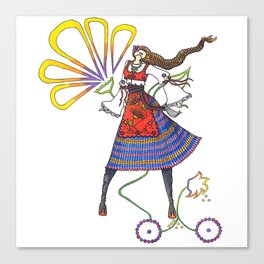 Folk Dancer Canvas Print