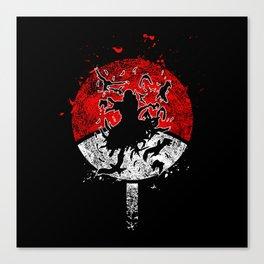 Silhouette Itachi Uchiha Canvas Print