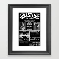 #10-B Memphis Wrestling Window Card Framed Art Print