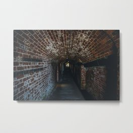 Underground Tunnel Metal Print
